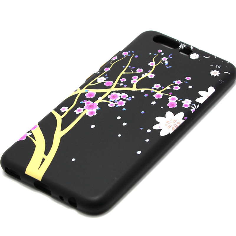 3D Relief flower silicone  case huawei p10 (34)