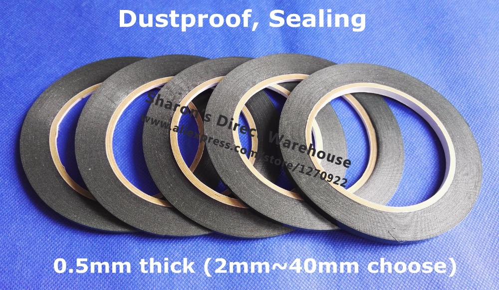 2mm/3mm/4mm/5mm Width Choose, 10M/roll, Double Sided Adhesive Foam Tape for Tablet Phone Screen PCB Dust Proof Seal, Car Trim 1 0mm thick 4mm 100mm width choose clear double sided adhesive acrylic foam tape for glass panel edge trim seal 3meter roll