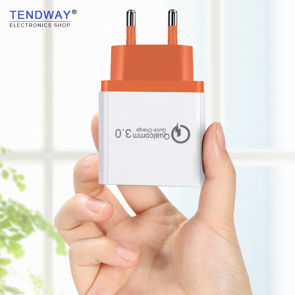 Tendway Qc 3.zero Fast Cost 3.zero Quick Usb Wall Journey Charger Multi Usb Cell Cellphone Charger Three Ports Eu Us Transportable Quick Charger