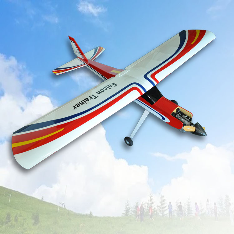 F066 Falcon Trainer 20cc Fixed wing RC Gasline Airplane Balsa Wood Plane RC Model suitable for beginner new slick 60cc 80cc 91 gasoline radio controlled rc airplane model balsa wood fixed wing plane