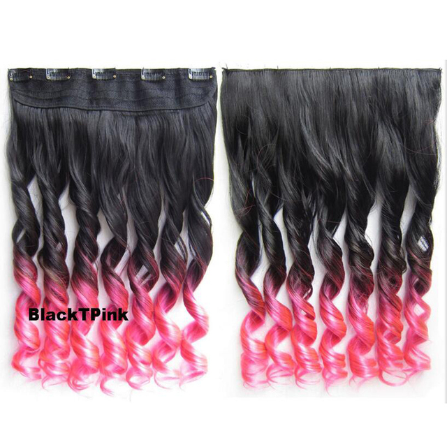 Free Shipping 22inch 60cm Clip Hair Extension In Curly Synthetic