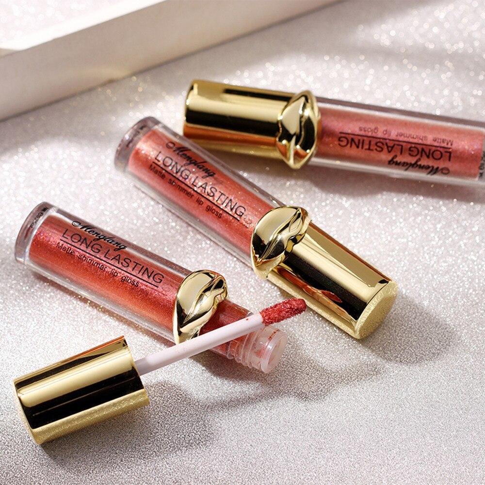 Metallic pearlescent matte liquid lipstick Non-stick Cup Sexy Lip Gloss Long Lasting Non Fading Quick Dry Lip Gloss