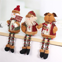 Special Offer ! ! Hot Sale Santa Claus Snow Man Reindeer Doll Christmas Decoration Xmas Tree Hanging Ornaments Pendant Best Gift