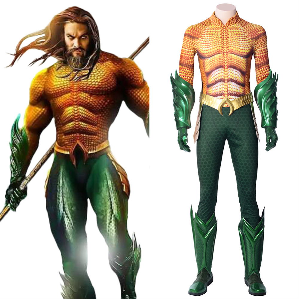 DC Justice League Aquaman Cosplay Costume Arthur Curry Aquaman Jumpsuit Outfit Adult Superhero Costume for Halloween Carnival toy story costumes adult