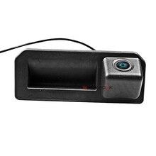 CCD Автомобильная камера заднего вида для Audi Q2 A5 Skoda KODIAQ 2017 багажника Ручка камера обратная парковка HD ночь visioin wdie угол