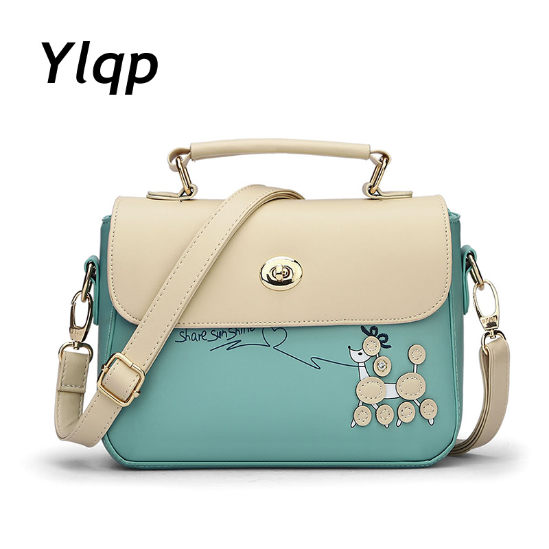 2017 The New Female Bag, Japan and South Korea Version of The Small Square Bag His Parcel One Shoulder Bag Brand Ladies Bag