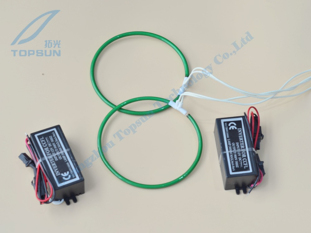 Super Bright Green CCFL Angel Eyes halo ring with Driver for projector lens, cold cathode fluorescent lamp