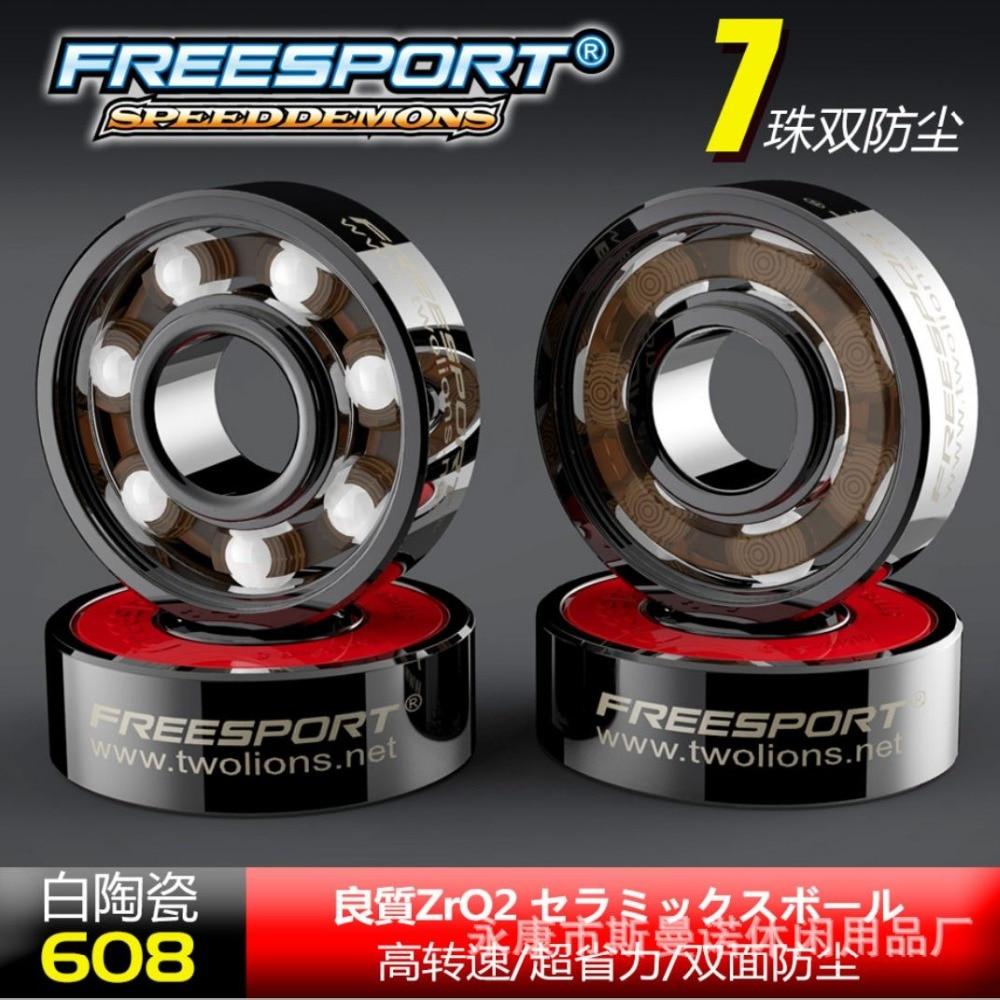 FreeSport 608 Hybrid Ceramic Bearing ABEC 9 Inline Skate Bearings FreeLine Skate Skateboard LongBoard HandSpinner Rodamientos(China)