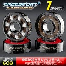 FreeSport 608 гибридный керамический подшипник ABEC 9, подшипники для роликовых инлайнконьков, фрилайн скейта, скейтборда, лонгборда, спиннера, подшипники