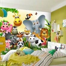 Wallpaper Jungle Mural Customized Beibehang Children Room Cute Background Animal Happy