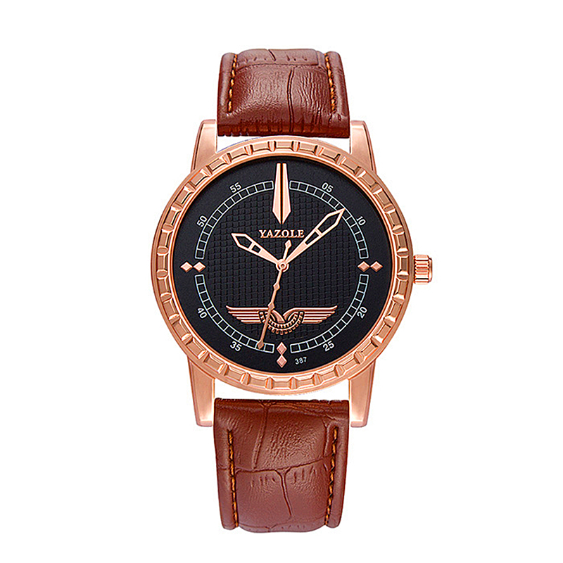 YAZOLE Fashion Watch men Luxury Brand Casual leather Male Clock Quartz-watch Business Rose Gold Reloj Hombre Relogio Masculino new listing men watch luxury brand watches quartz clock fashion leather belts watch cheap sports wristwatch relogio male gift