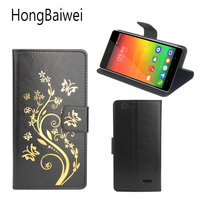 HongBaiwei for Oukitel C4 Case Luxury Flower Henna Clear Flip Leather Wallet Phone Bag Case for Oukitel C4