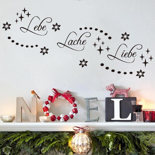 Duitse Liebe lache tekst patroon muur plakken woonkamer slaapkamer ...
