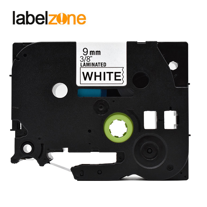 9mm tze221 Compatible Brother p-touch printers black on white tze label Tape laminated ribbon Tze-221 tz221 tz-221 tze tz 221 brother tz 221 page 1