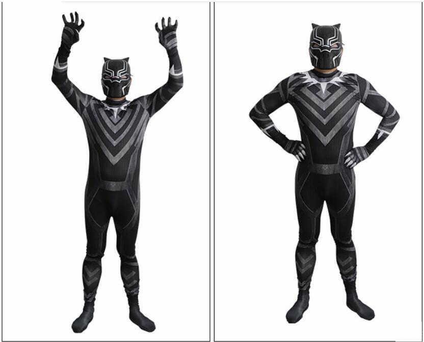 Новинка 2018, костюм супергероя из фильма Марвел, Черная пантера, косплей костюм с маской, шлем, для взрослых, супер герои, вечерние мужские костюмы для Хэллоуина