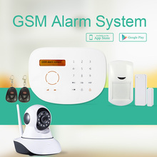 Freeship de dhl 433 Mhz Teclado Táctil GSM Inicio de Alarma GSM Sistema de alarma Con Cámara IP Alarmas Casas Residencial Sem Alarme Fio