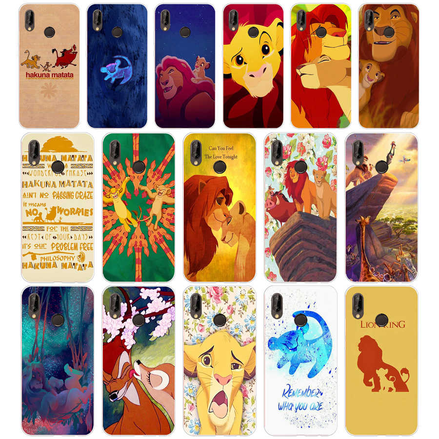 273SD The Hakuna Matata Lion King Soft Silicone Tpu Cover Case for  Honor 10 huawei p mate 10 20 lite y5 y6 prime 2018