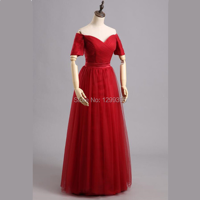 Robe de Soiree Real Photos Cheap Simple Red Evening Dress under 100 ...