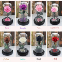 Forever Rose Flower Festive Preserved Immortal Fresh Rose In Glass Mothers' Day Gift 10 Colors Available