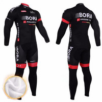 2018 Winter Fleece Thermal Cycling Team Bora Cycling Jersey Wear Clothing Maillot Ropa Ciclismo Mtb Bike