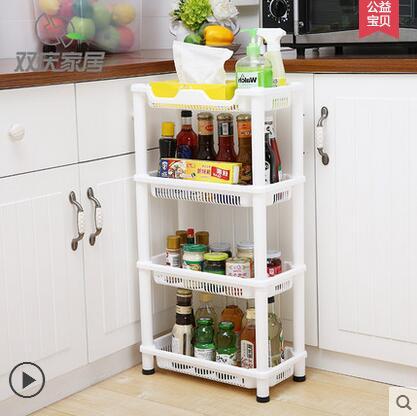 € 51.65 5% de DESCUENTO Estantes de plástico para baño, organizador de  cocina, estante de almacenamiento de esquina, estantería de cuatro capas-in  ...