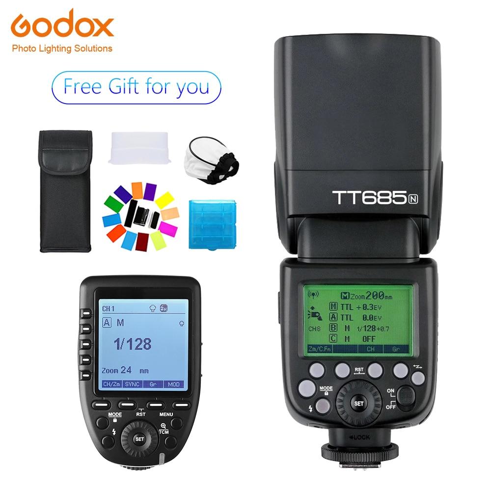 Godox TT685 TT685N Flash Speedlite sans fil TTL + xpro-n Flash de déclenchement sans fil pour appareil photo nikon D800 d700 D7100 D700