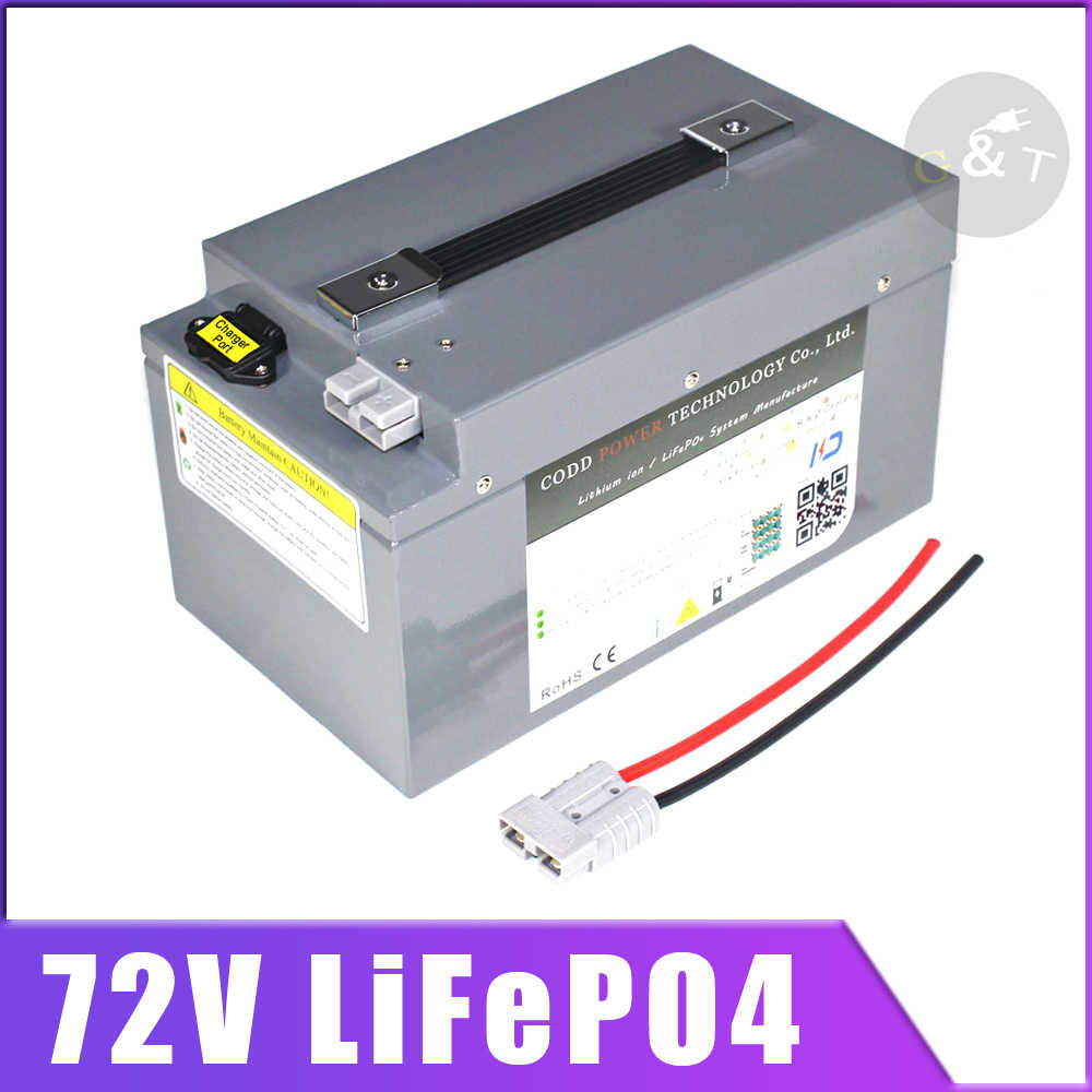 72V 60Ah lifepo4 battery 72V 40AH Battery With BMS 24S for 5700W 5000W bicycle bike scooter Forklift inverter
