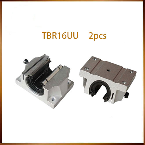 TBR16UU 2pcs linear bearing block for 16mm linear guide support unit TBR16 linear guide CNC parts abrasives apply linear guide bearing fzh19x50x3 non standard custom