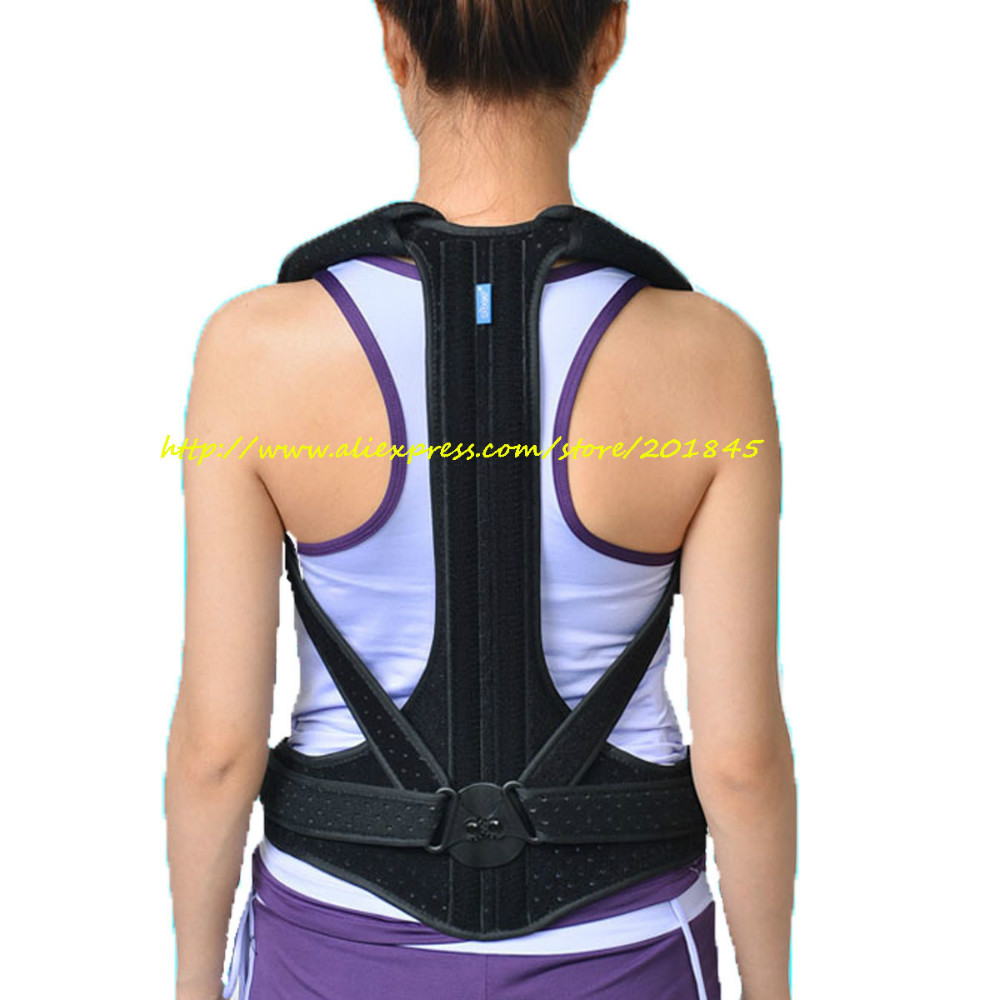 Male Female Adjustable Posture Corrector Waist Lumbar Shoulder Chest Back Spine Support Brace Belt Body Posture Correction Tool