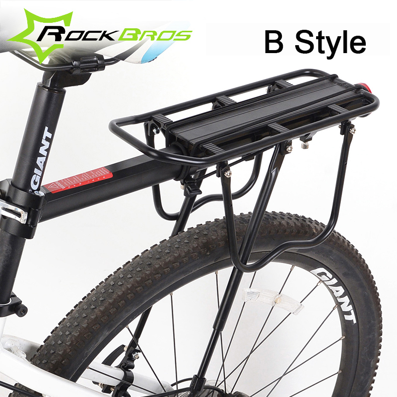 ROCKBROS Mountain Bike Rack Aluminum Alloy 50-60KG Loading Supporting MTB Bicycle Cycling Luggage Rack Cargo Stand Bike Parts цены онлайн
