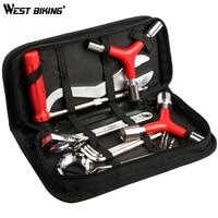 WEST BIKING 12 in 1 Professional Bicycle Tools Repair Sets Multifunctional Wrenches Screwdriver Repair Case MTB Road Bike Tools