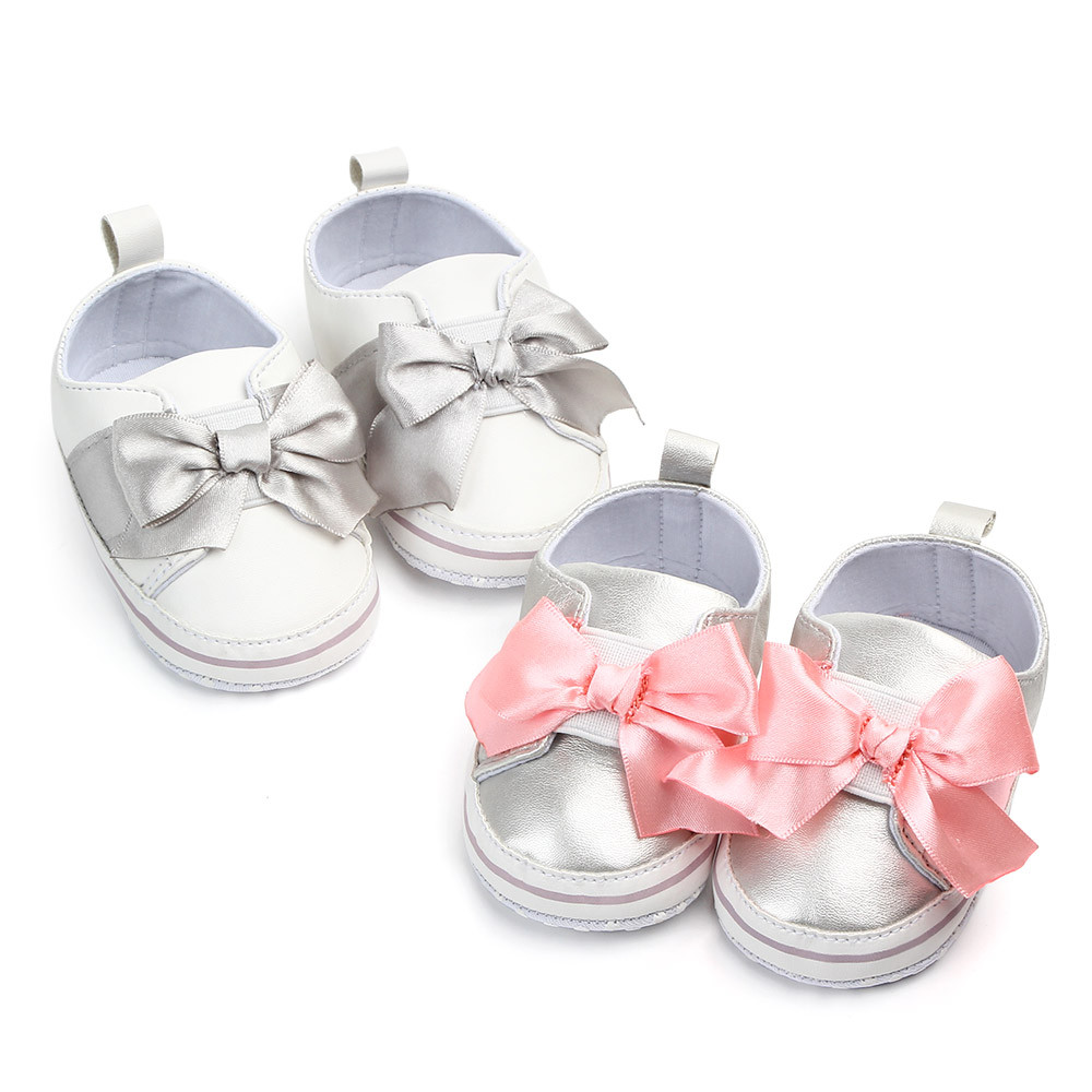 Mother & Kids Independent Baby Boys Girls Shoes First Walking Sequined Ribbon Cotton Fabric Shoes Elastic Band Big Polka Dot Printing Walking Shoes