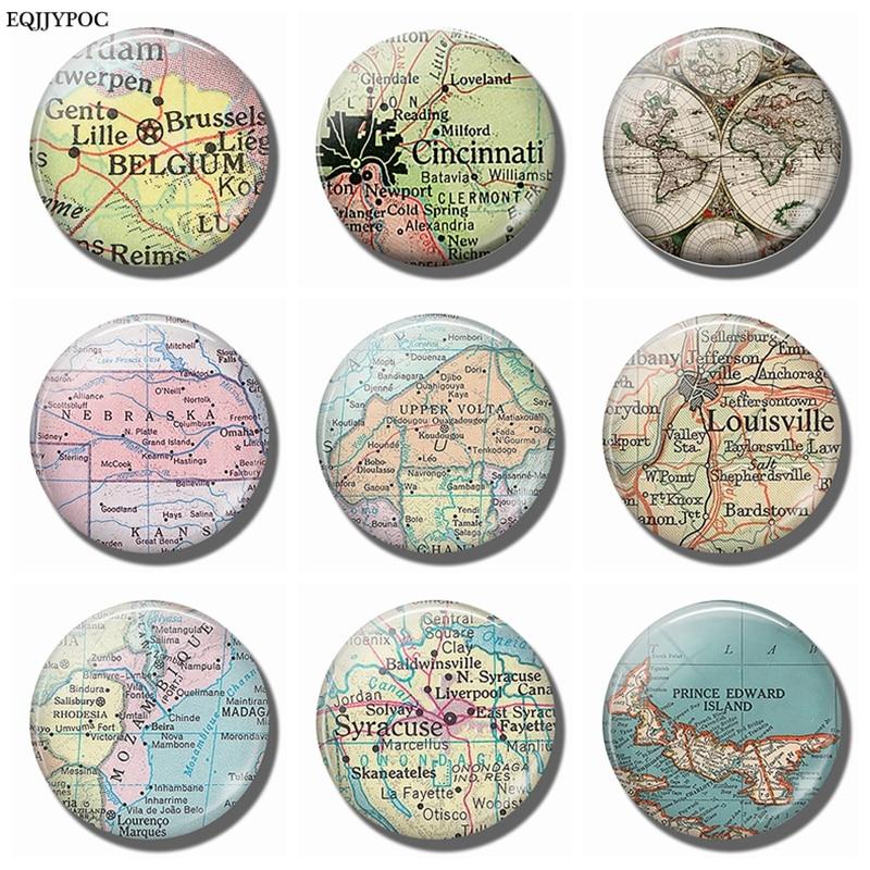 World Map Belgium Cincinnati Nebraska Burkina Faso Louisville Mozambique Syracuse Prince Edward Fridge Magnets Magnetic Sticker