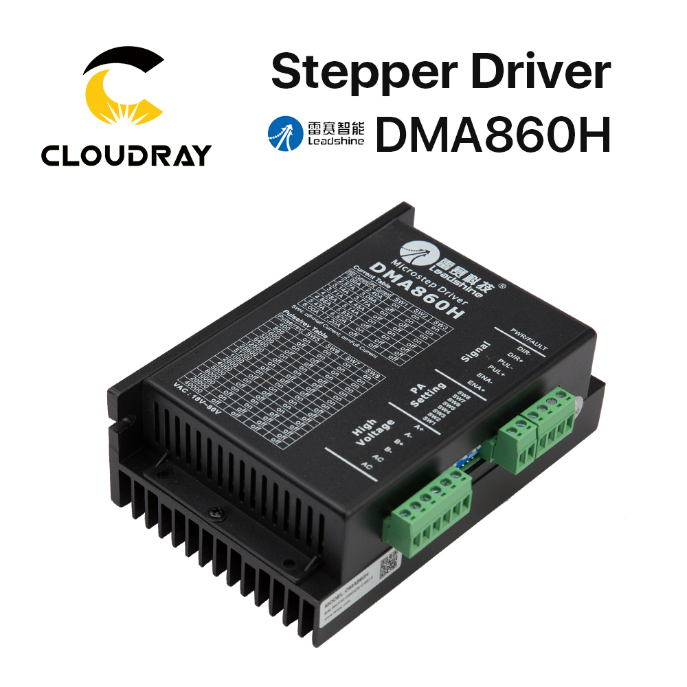 Cloudray Leadshine 2 Phase Stepper Driver DMA860H 18-80VAC 2.4-7.2A junior republic шапка с помпоном зимняя темно синяя