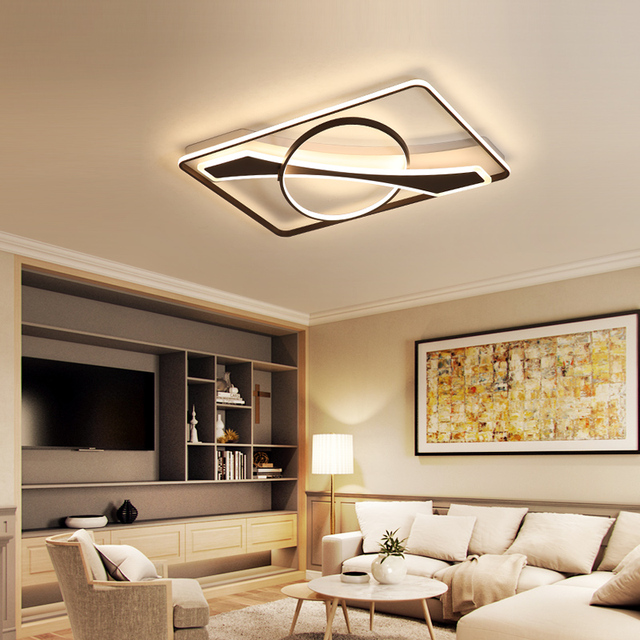 New listing modern led ceiling chandelier for living room bedroom study dining room balcony 95-265V square chandelier with RC