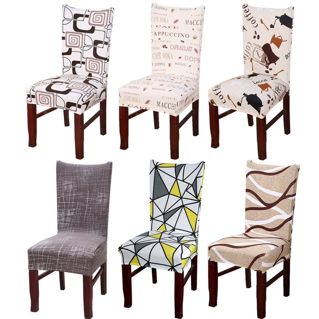 chair covers modern computer mats 1pc spandex elastic floral slipcovers stretch removable dining cover with backrest kitchen