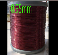cltgxdd 0.95mm QZY 2 155 High temperature Wire Magnet Wire Enameled wire Magnetic Coil Winding Item specifics