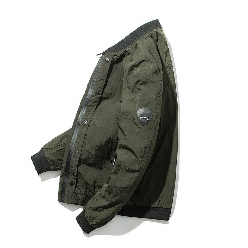 Hommes vestes printemps nouveau décontracté Slim vestes Baseball vêtements armée vert noir