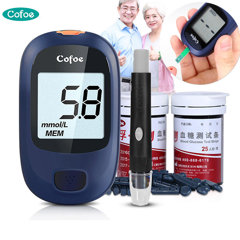 Cofoe Yice Blood Glucose Meter Kit with Tset Strips & Lancets Needles for Diabetes Blood Glucometer Blood Sugar Detection каунт бэйси count basie april in paris lp
