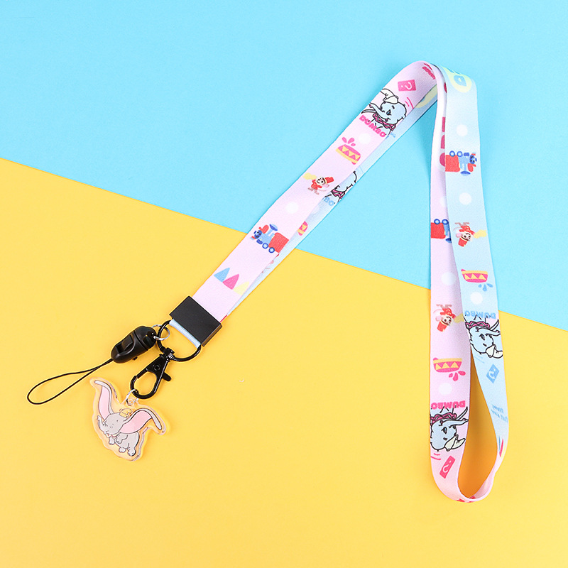 New Cartoon Ribbon Dumbo Lanyard For Keys Phone Cord Strap Keychain Lanyard For Phone Neck Strap Lanyard Neck Strap Keycord