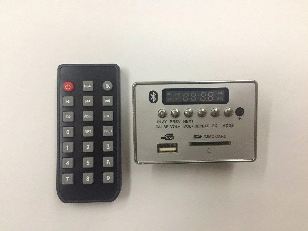 Bluetooth Module WAV+WMA+MP3 decode board 12v Digital LED player FM Radio for car lson 12v mp3 wma decode bluetooth amplifier board green black