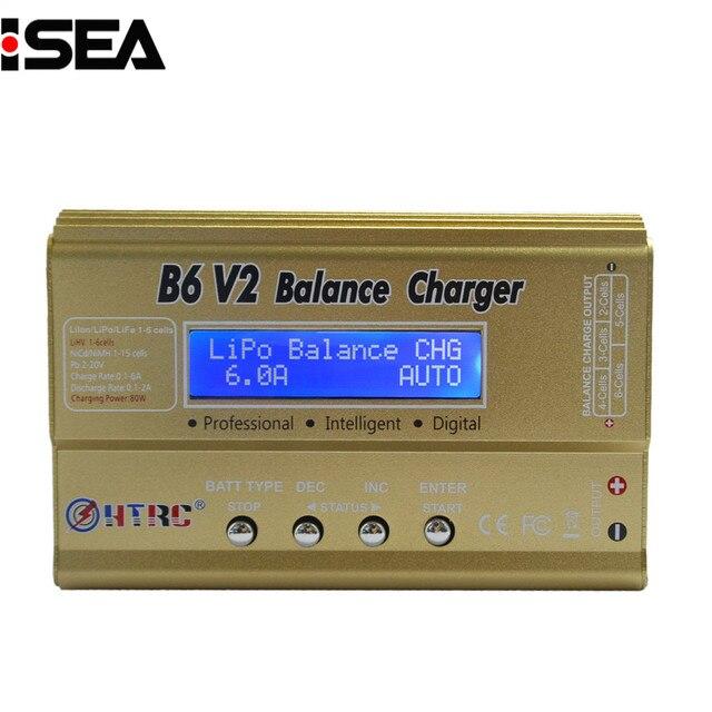 HTRC Imax B6 V2 80 Вт профессиональная цифровая Батарея баланс Зарядное устройство Dis Зарядное устройство для LiHV LiPo Li-Ion LiFe NiCd NiMH PB Батарея