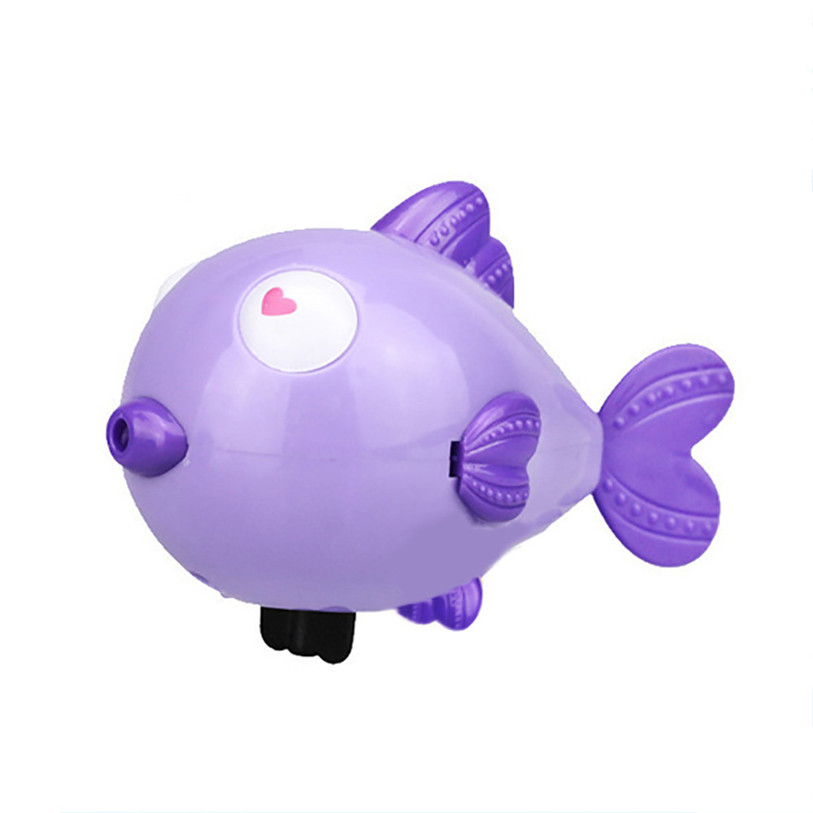 2017 HOT Swimming Hearts fish Operated Pool Bath Cute Toy Wind-Up Kids Toy