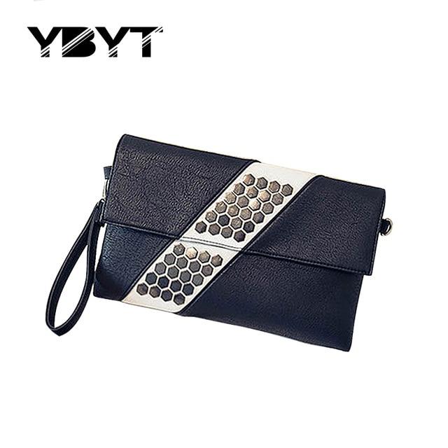 YBYT brand 2017 new PU leather retro preppy style lady rucksack joker women leisure travel  bag famous designer top-handle bags