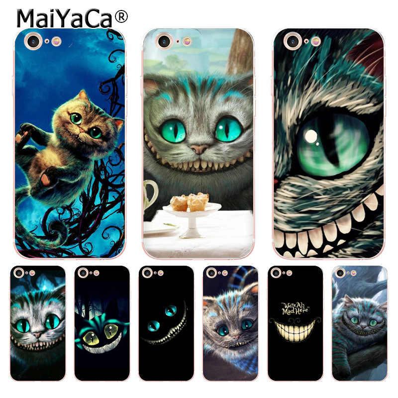 MaiYaCa أليس في بلاد العجائب شيشاير القط نمط لينة الهاتف حقيبة لهاتف أي فون 6S 6 زائد 7 زائد 8 زائد X 5S xr xs 11pro ماكس حالة غطاء