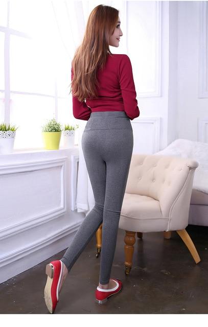 Lovely Plus Velvet Warm Maternity Leggings Pregnant Pants For Women Autumn winter Pregnancy Pant High Elastic Waist Trousers