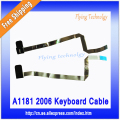 "Plata Original Flex Ribbon Cable Para Macbook 13 ""A1181 A1185 Trackpad Teclado Negro Blanco"