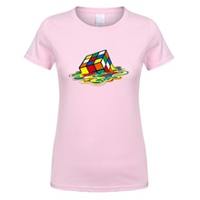 Classic melting Rubik's cube T-shirt / 7 Colors