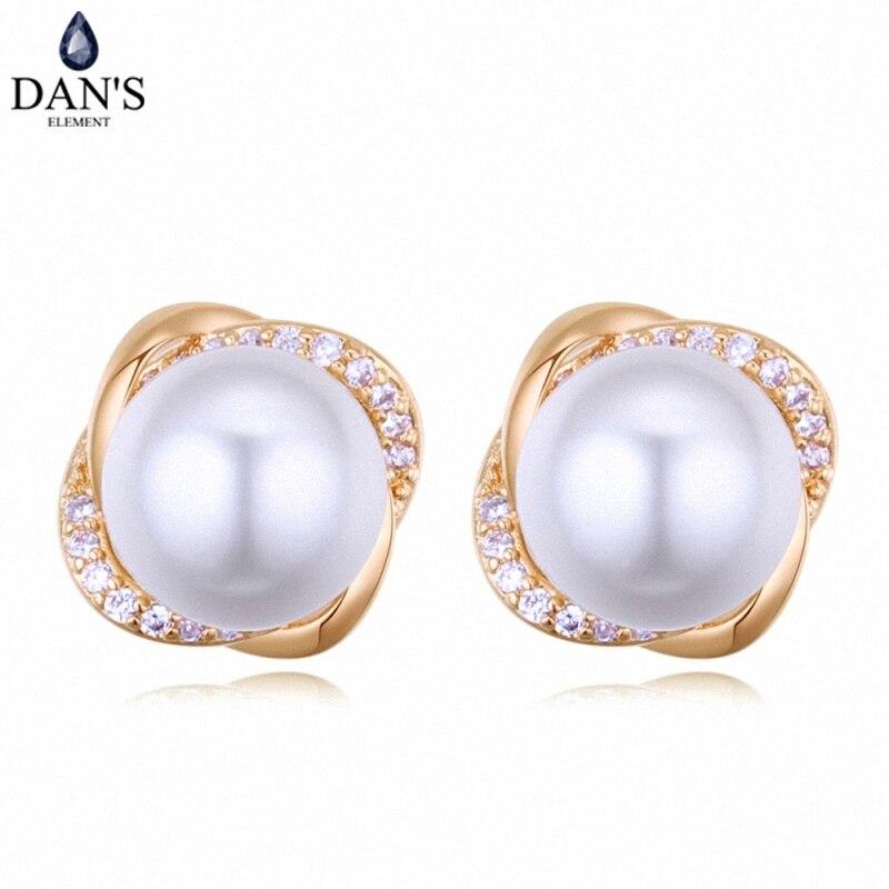 Дэна 3 цвета Real Австрийскими кристаллами серьги стержня для женщин серьги s новая распродажа Горячий круглый 128654