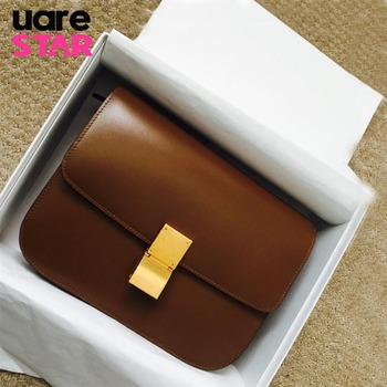 Classic Box Shaped Flap Ladies Shoulder Bag